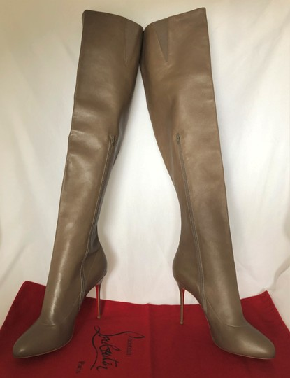 Christian Louboutin High Heels Pigalle Taupe Boots Image 4