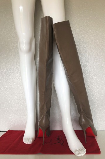 Christian Louboutin High Heels Pigalle Taupe Boots Image 5