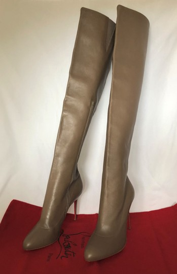 Christian Louboutin High Heels Pigalle Taupe Boots Image 6