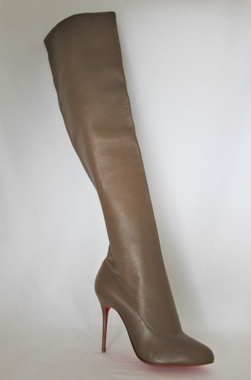 Christian Louboutin High Heels Pigalle Taupe Boots Image 7