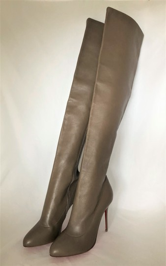Christian Louboutin High Heels Pigalle Taupe Boots Image 8