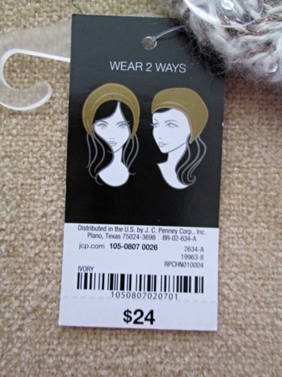 MIXIT Two NWT Women's Knit Tams W/Sequins MIXIT Ivory & Black Image 8