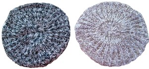 MIXIT Two NWT Women's Knit Tams W/Sequins MIXIT Ivory & Black