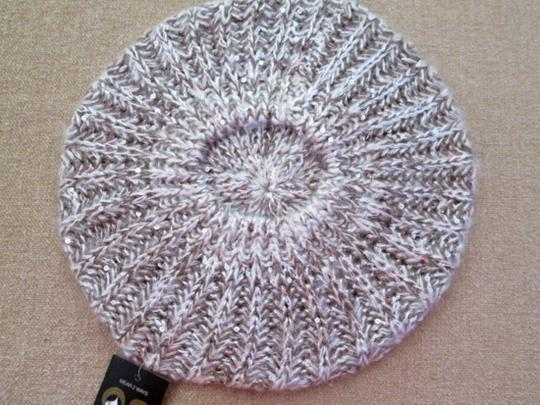 MIXIT Two NWT Women's Knit Tams W/Sequins MIXIT Ivory & Black Image 5