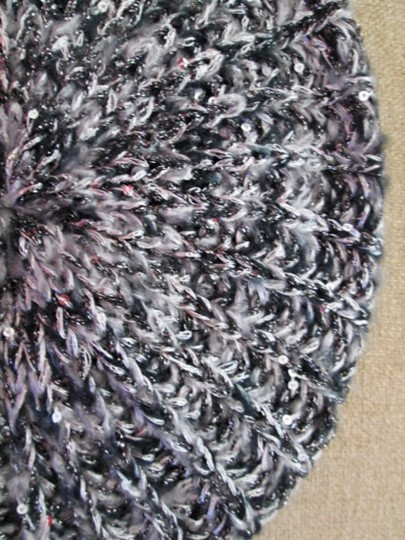 MIXIT Two NWT Women's Knit Tams W/Sequins MIXIT Ivory & Black Image 7