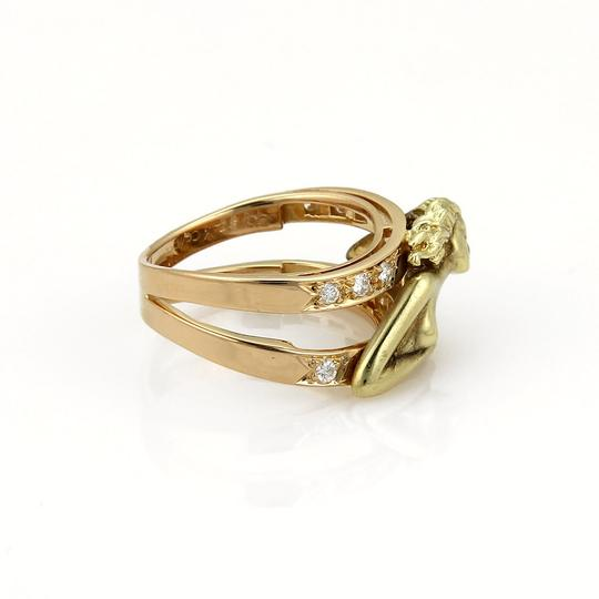 Carrera y Carrera Carrera y Carrera Diamond 18k Two Tone Gold Carved Woman Image 3