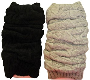 Mixit Two NWT Women's Knit Leg Warmers by MIXIT One Size Moonrock & Black