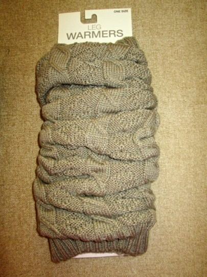 MIXIT Two NWT Women's Knit Leg Warmers by MIXIT One Size Moonrock & Black Image 2