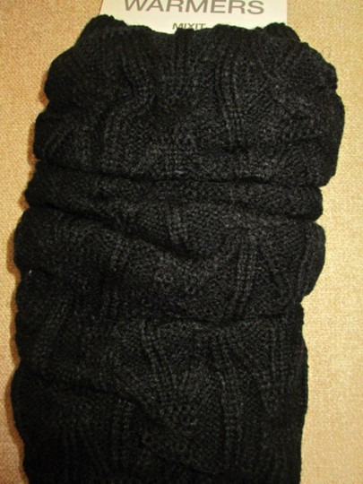 MIXIT Two NWT Women's Knit Leg Warmers by MIXIT One Size Moonrock & Black Image 5