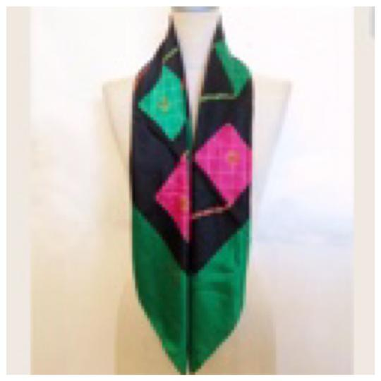 Chanel Authentic CHANEL Vintage Classic Flap Bag Silk Scarf Image 1