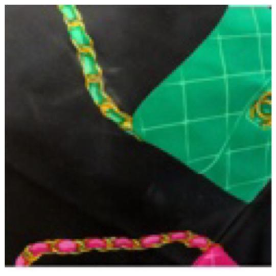 Chanel Authentic CHANEL Vintage Classic Flap Bag Silk Scarf Image 3