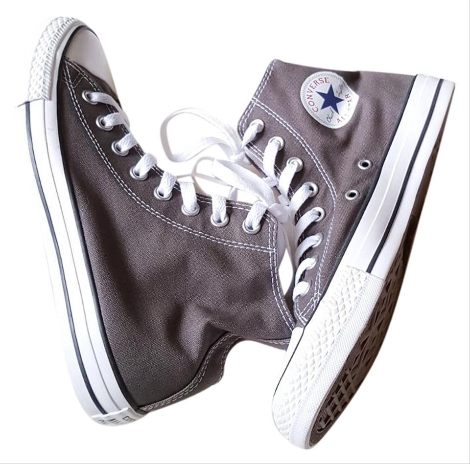 5689f2d50437 Converse Charcoal Womens Chuck Taylor All Star High Top Sneakers ...