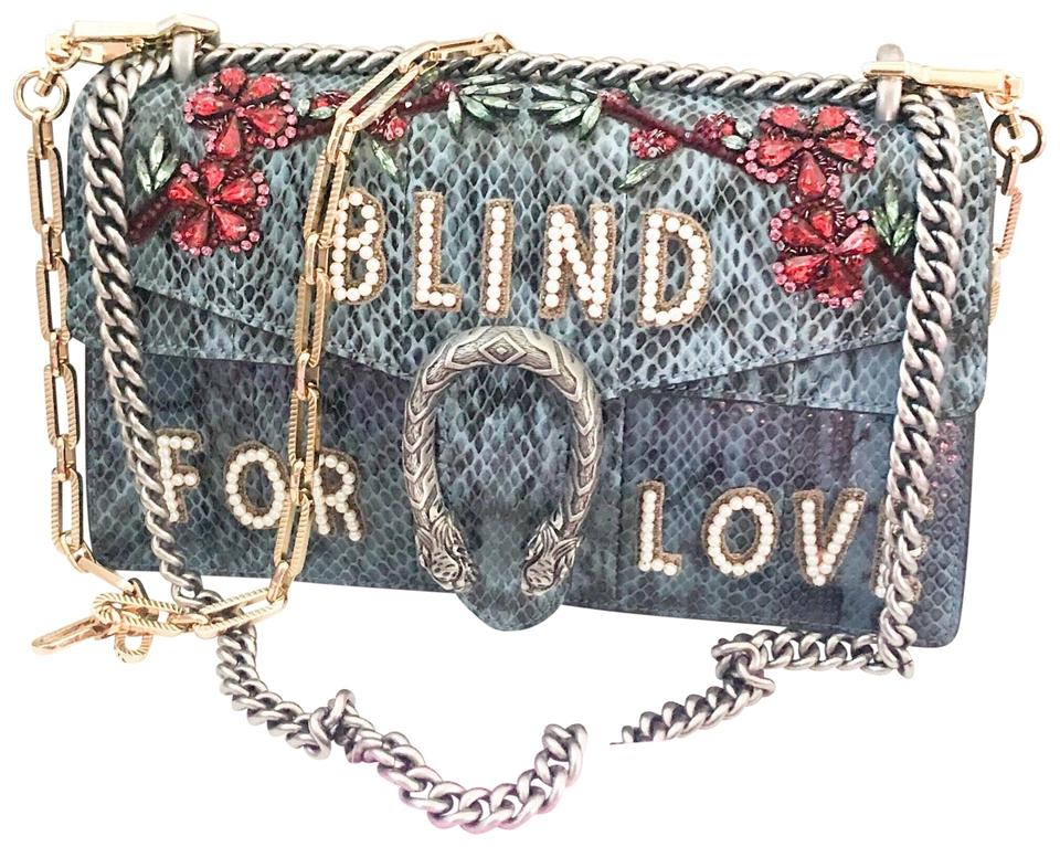 a11eb46c9 Gucci Chain Dionysus 'blind For Love' Python Pearl Crystal Shoulder Bag