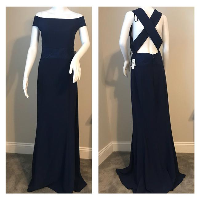 Preload https://img-static.tradesy.com/item/24261103/laundry-by-shelli-segal-midnight-off-the-shoulder-crepe-gown-long-formal-dress-size-12-l-0-0-650-650.jpg