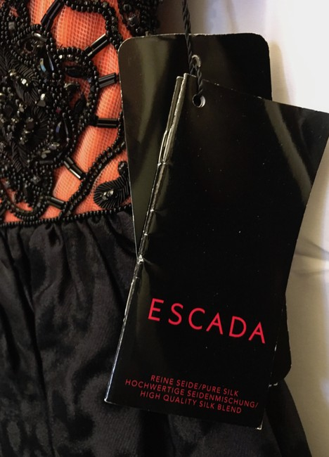 Escada Silk Strapless Beaded Detail New With Tags Dress Image 4