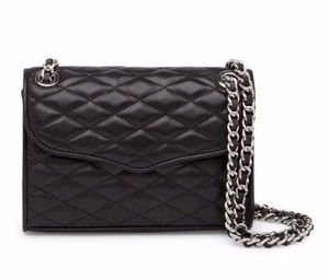 Rebecca Minkoff Quilted Leather Laced Chain Strap Cross Body Bag
