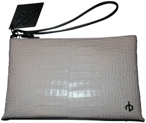 Rag & Bone Wristlet in Blush Croc