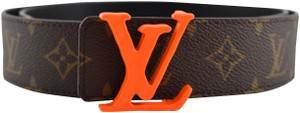 Louis Vuitton Louis Vuitton Virgil Abloh SS19 40mm Orange Monogram LV Logo Belt 90