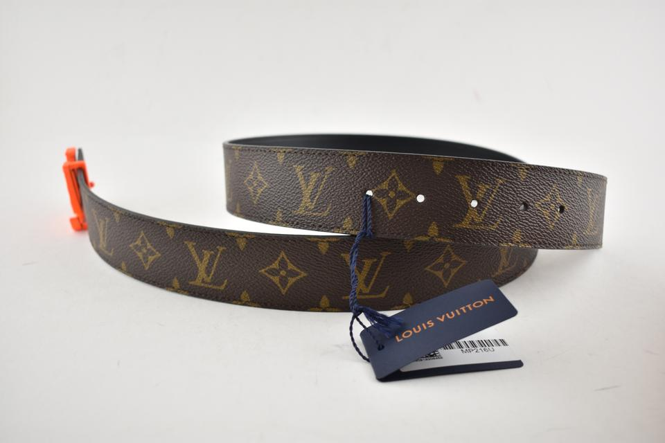 33ac3097865 Louis Vuitton Louis Vuitton Virgil Abloh SS19 40mm Orange Monogram LV Logo  Belt 90 Image 11. 123456789101112