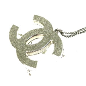 Chanel CHANEL CC Logo Chain Necklace Silver Plated