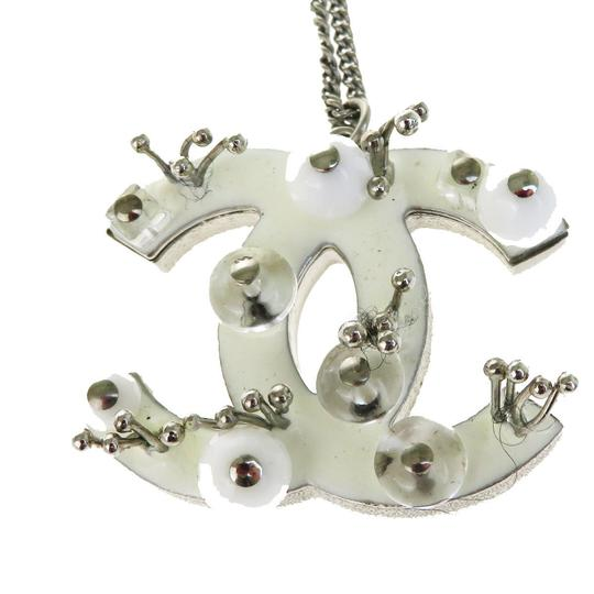Chanel CHANEL CC Logo Chain Necklace Silver Plated Image 2