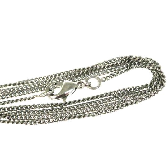 Chanel CHANEL CC Logo Chain Necklace Silver Plated Image 5