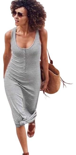 Item - Gray and Black Long Casual Maxi Dress Size 8 (M)