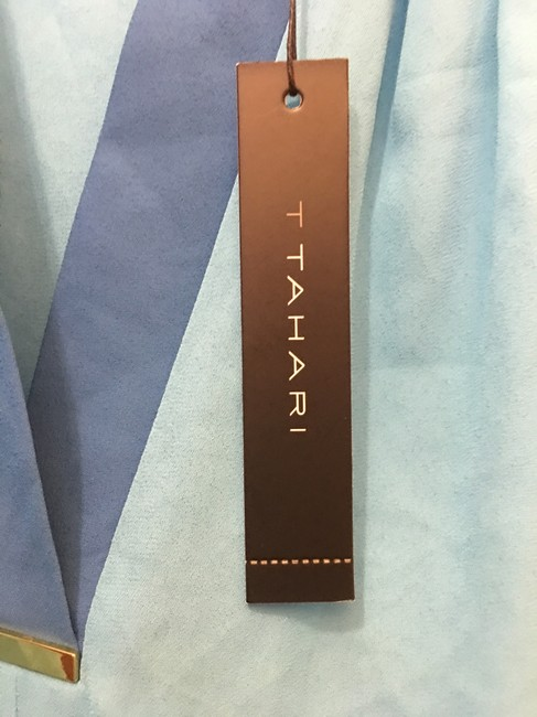 Tahari V-neck Sleeveless Metal Accent New With Tags Top Turquoise Image 3