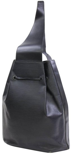 louis vuitton noir sac a dos sling 868439 black leather backpack tradesy