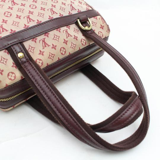 Louis Vuitton Belem Speedy Boston Marie Kate Satchel in Burgundy Image 11