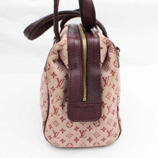 Louis Vuitton Belem Speedy Boston Marie Kate Satchel in Burgundy Image 6