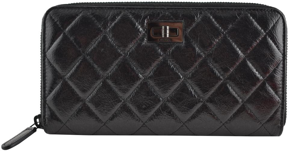 f2d0e55a6d98 Chanel Chanel 2.55 Reissue So Quilted Gusset Zipper Zip Around Wallet  Clutch Image 0 ...