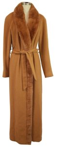 Donatella Belted Angora Size Trench Coat