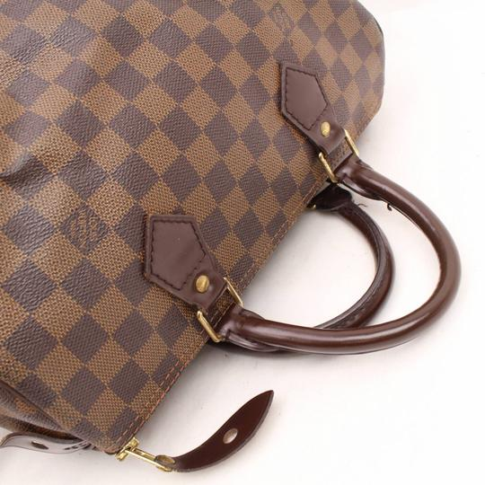 Louis Vuitton Ebene Damier Checker Checkered Neverfull Satchel in Brown Image 1