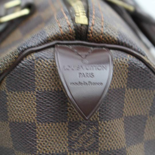 Louis Vuitton Ebene Damier Checker Checkered Neverfull Satchel in Brown Image 4