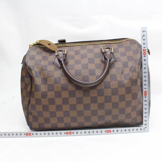 Louis Vuitton Ebene Damier Checker Checkered Neverfull Satchel in Brown Image 5