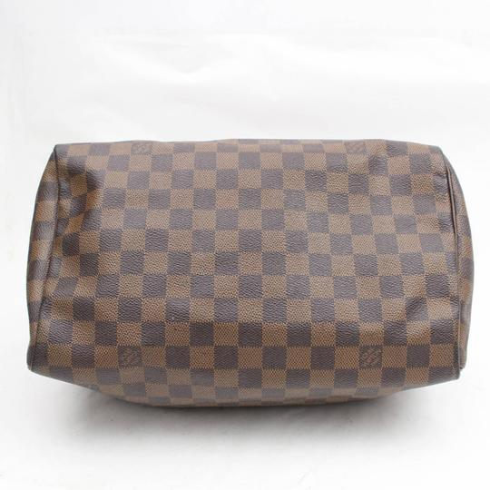 Louis Vuitton Ebene Damier Checker Checkered Neverfull Satchel in Brown Image 6