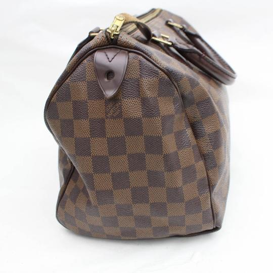 Louis Vuitton Ebene Damier Checker Checkered Neverfull Satchel in Brown Image 7