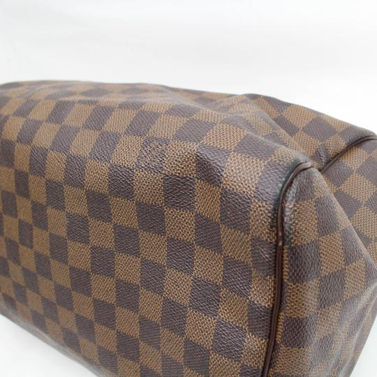 Louis Vuitton Ebene Damier Checker Checkered Neverfull Satchel in Brown Image 8