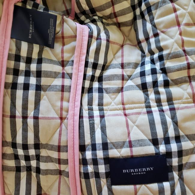 Burberry Quilted Belted Silver Hardware House Check Nova Check Pink Jacket Image 10