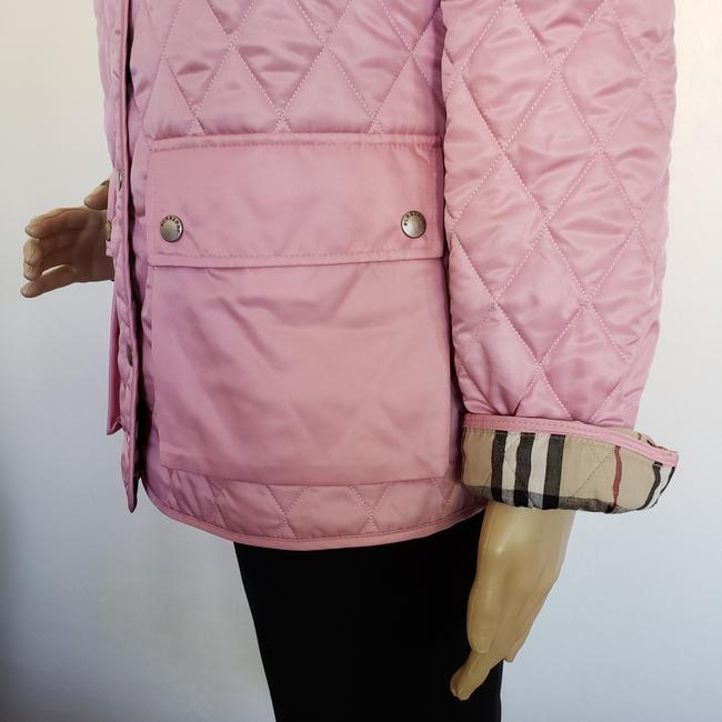 Burberry Quilted Belted Silver Hardware House Check Nova Check Pink Jacket Image 2