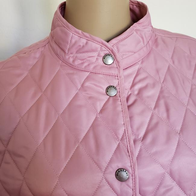 Burberry Quilted Belted Silver Hardware House Check Nova Check Pink Jacket Image 4
