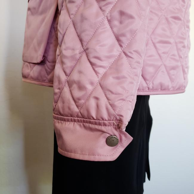 Burberry Quilted Belted Silver Hardware House Check Nova Check Pink Jacket Image 7