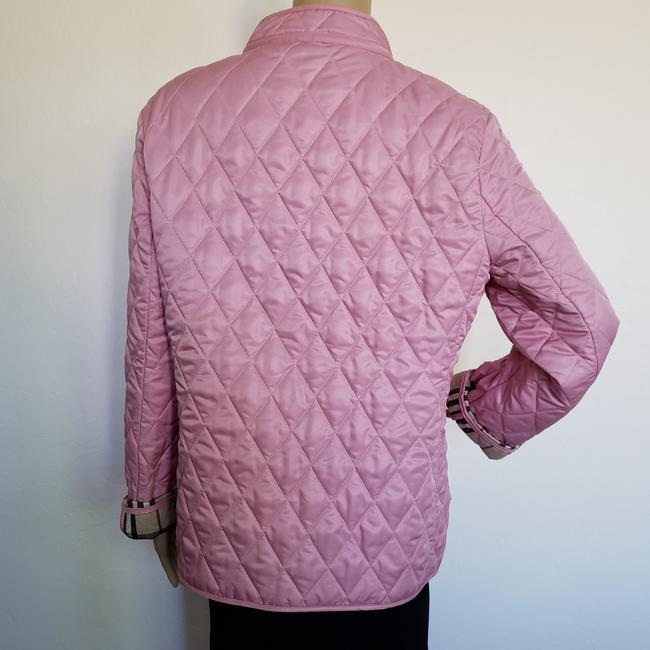 Burberry Quilted Belted Silver Hardware House Check Nova Check Pink Jacket Image 8