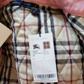 Burberry Quilted Belted Silver Hardware House Check Nova Check Pink Jacket Image 9