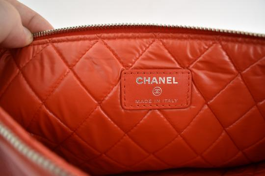 Chanel Classic Leather Monogram Cuba red Clutch Image 10