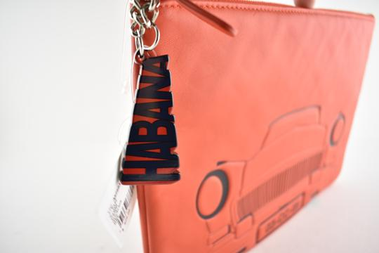 Chanel Classic Leather Monogram Cuba red Clutch Image 5