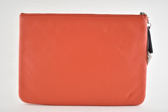 Chanel Classic Leather Monogram Cuba red Clutch Image 6