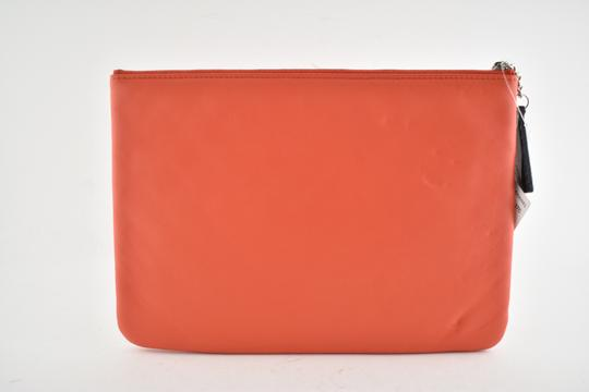 Chanel Classic Leather Monogram Cuba red Clutch Image 7