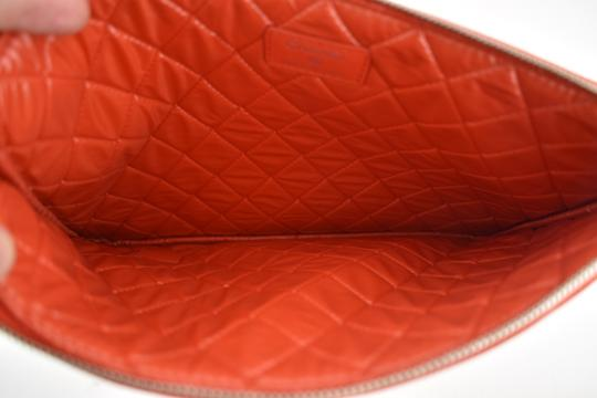 Chanel Classic Leather Monogram Cuba red Clutch Image 9